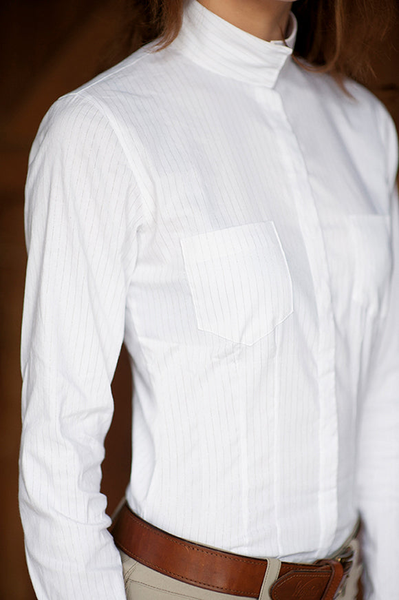 Winston Paris White/Silver Stripe Show Shirt