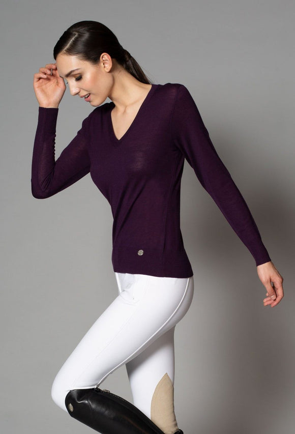 Serena Merino V-Neck Sweater - Ladies