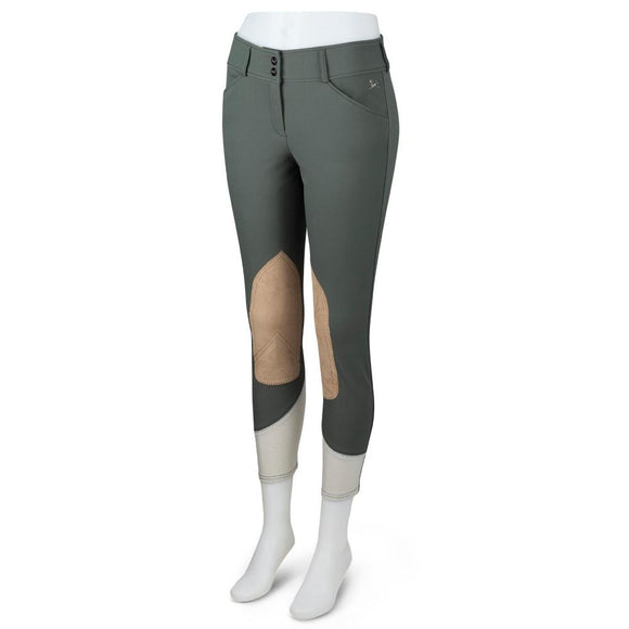 Gulf Low Rise Front Zip Breeches - Olive/Vintage