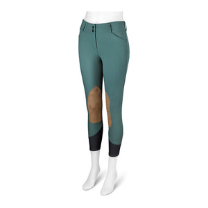 Gulf Low Rise Front Zip Breeches - Mallard Green
