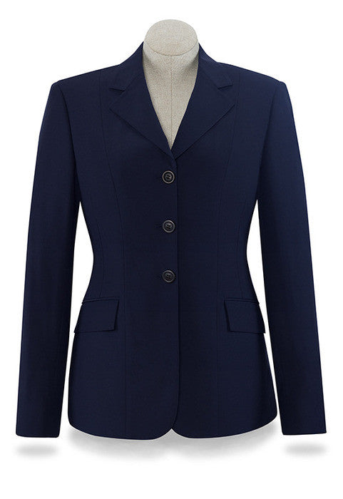 Devon Navy Blue Lightweight Softshell Show Coat