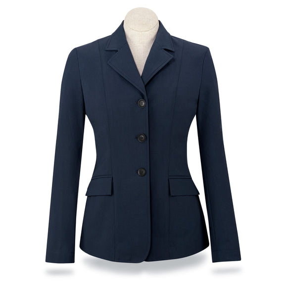Monterey Show Coat - Navy Herringbone - Ladies