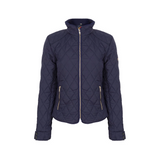 A Little Bit Racey Quilted Jacket Navy