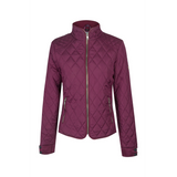 A Little Bit Racey Quilted Jacket Burgundy Front