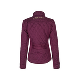 A Little Bit Racey Quilted Jacket Burgundy Back