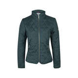 A Little Bit Racey Quilted Jacket Green