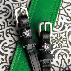 Mane Jane spur straps with silver sea turtle charms
