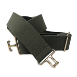 Thin Elastic Surcingle Belt - Silver Buckle