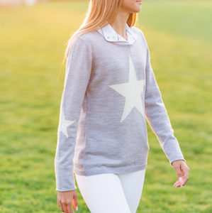 Starlet Sweater London Grey/White