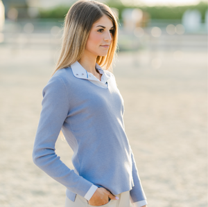 Essential V-Neck Sweater Lilac