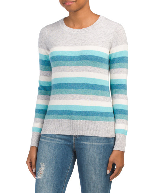 C&C California Striped Cashmere Sweater