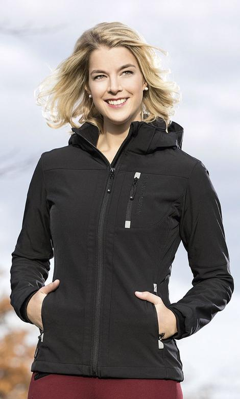 HKM Softshell Sport Jacket Black Ladies