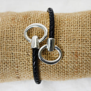 Bit Spring Braided Leather Bracelet