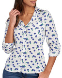 Elisa Longsleeve Button Down - Blueberry - Ladies