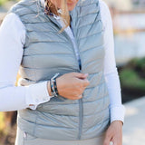 Amelia Collarless Down Vest - Ladies
