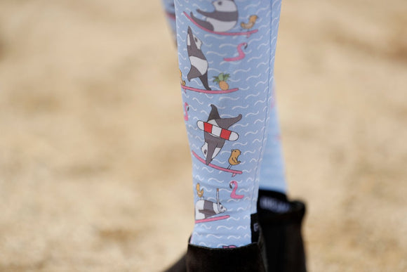 Surf's Up Panda Boot Socks
