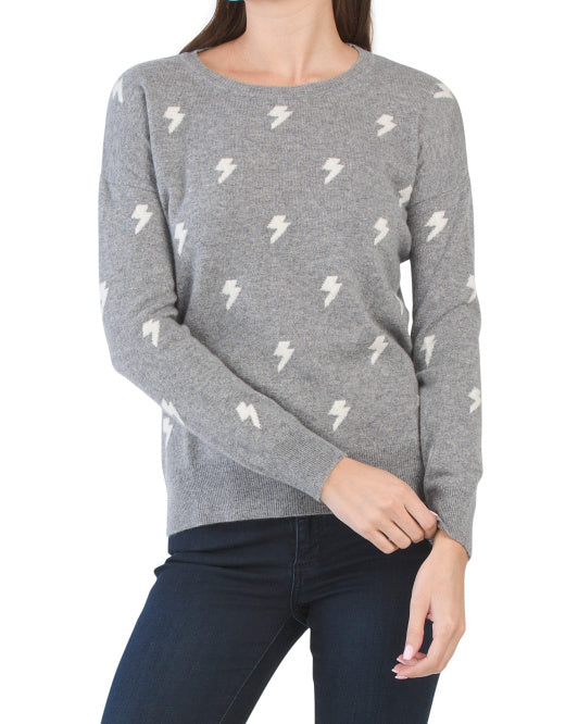Lightning Bolt Cashmere Sweater - Ladies
