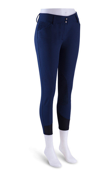 Gulf Low Rise Front Zip Breeches - Navy Blue
