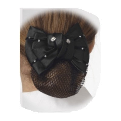 Black Floral Crystal Show Bow