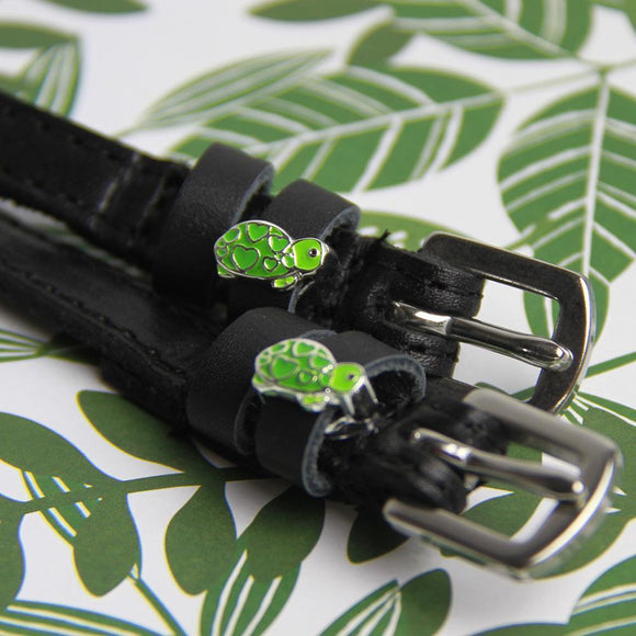 Mane Jane spur straps with turtle charms