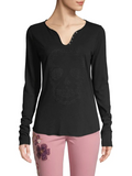 Embellished Skull Long Sleeve Tee
