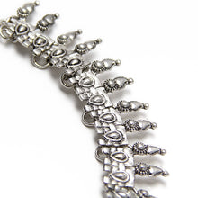 layered boho silver necklace edgability detail view
