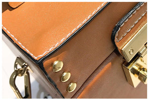 tan studded bag box bag edgability detail view