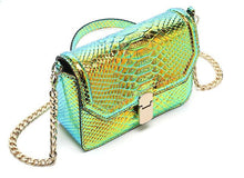 snakeskin bag chrome trendy bag edgability angle view