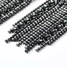 black and silver crystals dangler statement jewelry edgability detail view