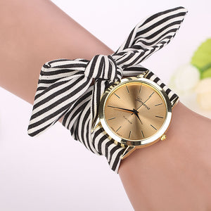 black stripes scarf watch edgability model view