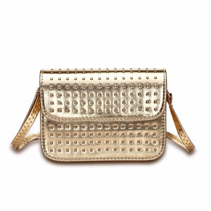 silver studded gold metallic bag edgability