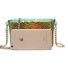 snakeskin bag chrome trendy bag edgability size view