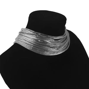 silver necklace statement jewelry edgability side view