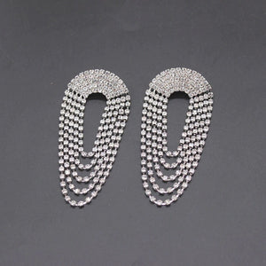 diamonte crystal chandelier statement earrings edgability front view