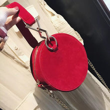 round bag sling bag red bag edgability front view
