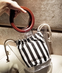 clear bag transparent bag bucket bag edgability side view