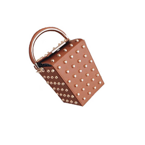 studded bag box bag tan bag edgability angle view