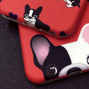 single pup multi pup red iphone case detail view edgability