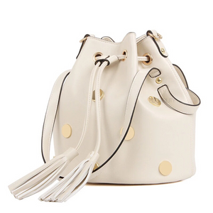 gold studded offwhite drawstring bag edgability