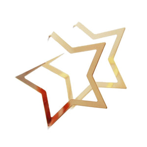 star hoops gold earrings edgability