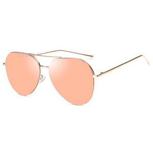 quay style rose gold sunglasses angle view edgability