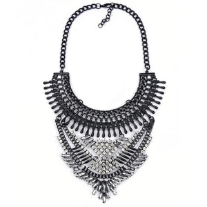 black and white statement necklace edgy fashion edgability