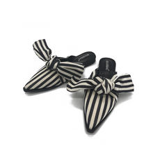 stripes mules trendy shoes edgability angle view