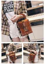 patent leather box bag studded bag sling bag edgability model view
