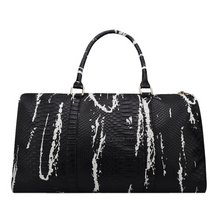 black and white bag marble travel bag edgability front view