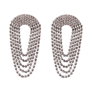 diamonte crystal chandelier statement earrings edgability