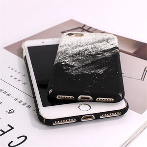 black and white matte iphone 7 case edgability angle view