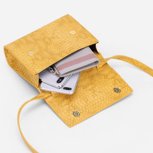 snakeskin envelope yellow clutch bag edgability inside view