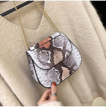 grey ombre snakeskin sling bag edgability full view