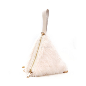 fur bag triangle bag edgability